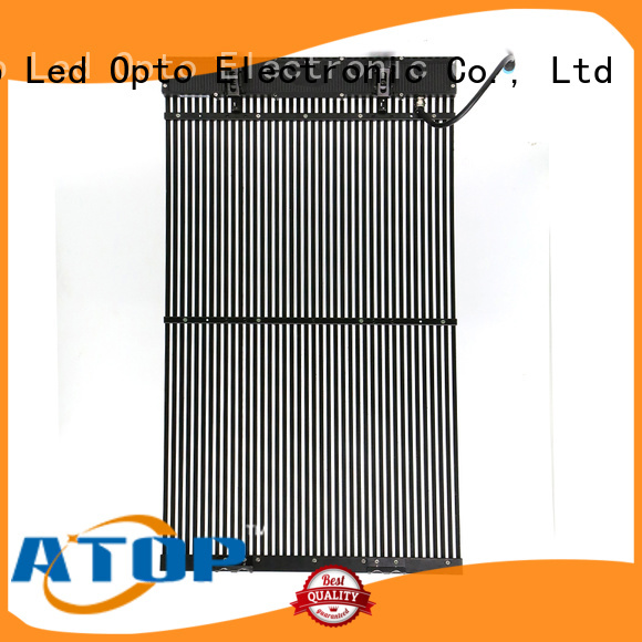 professional transparent led screen smd with high transparency for brand chain stores