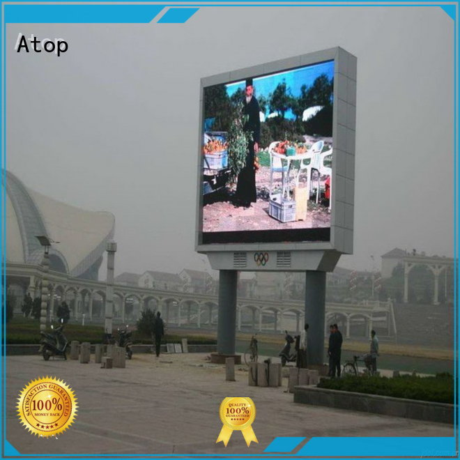 Atop affordable big led display with relaible quality for advertising