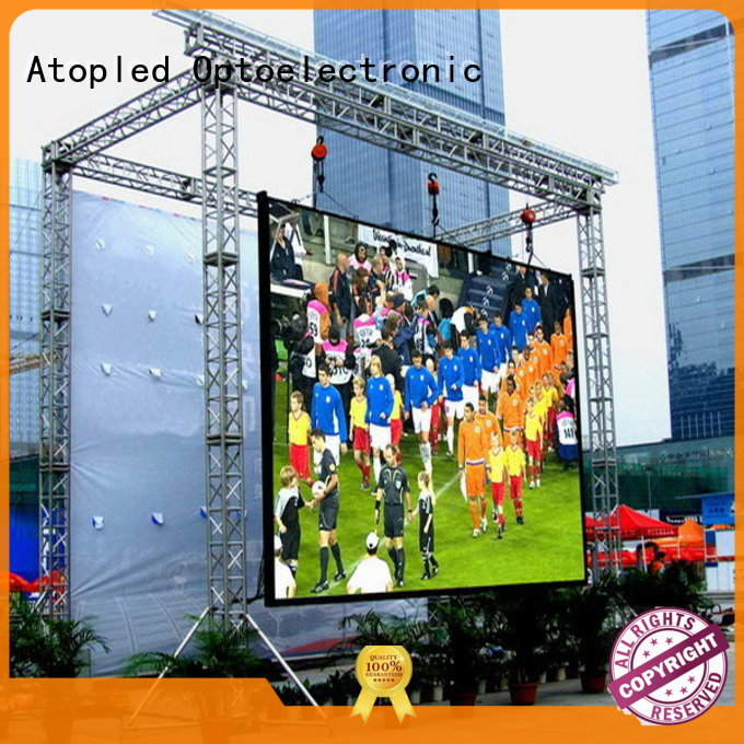 Atop led outdoor fixed led display for display
