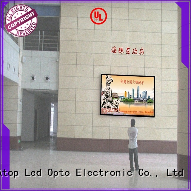 advertising led sign with best color uniformity for indoor led display Atop