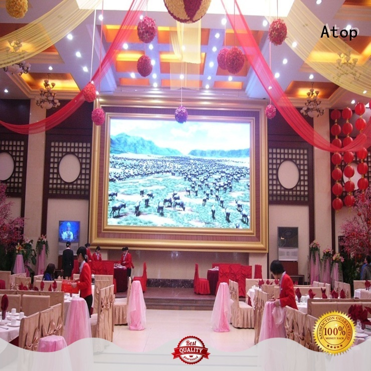 Atop wedding 4k video wall with relaible quality for indoor led display
