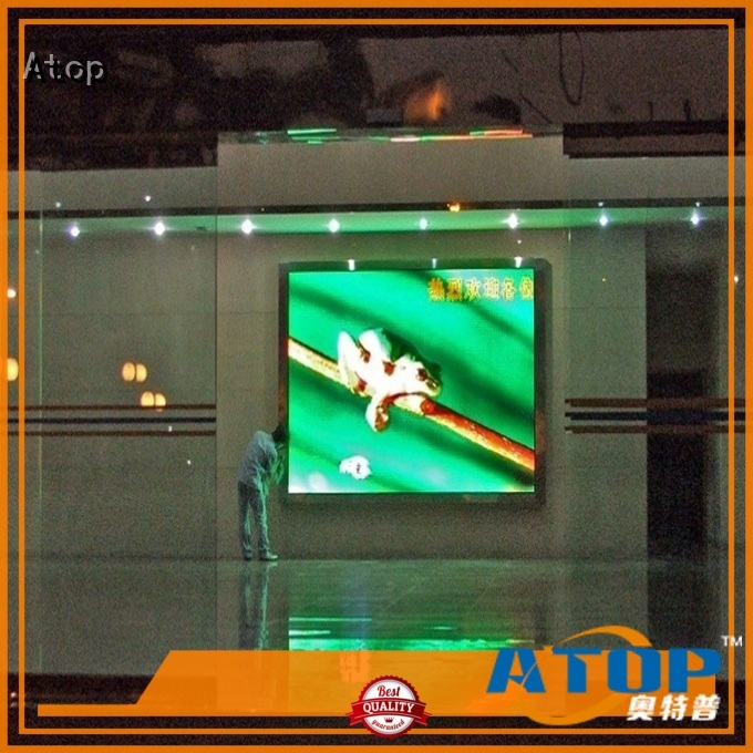 Atop indoor electronic sign board with relaible quality for advertising