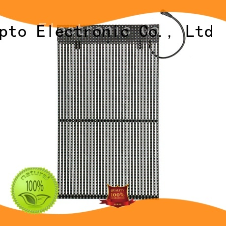 Atop atop transparent led video wall easy maintenance for financial institutions