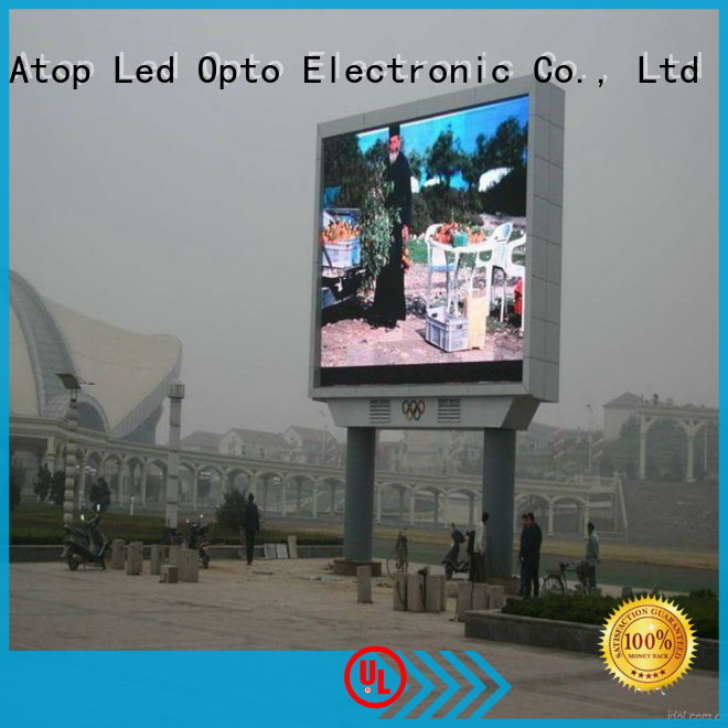Atop waterproof big led display for both outdoor and indoor