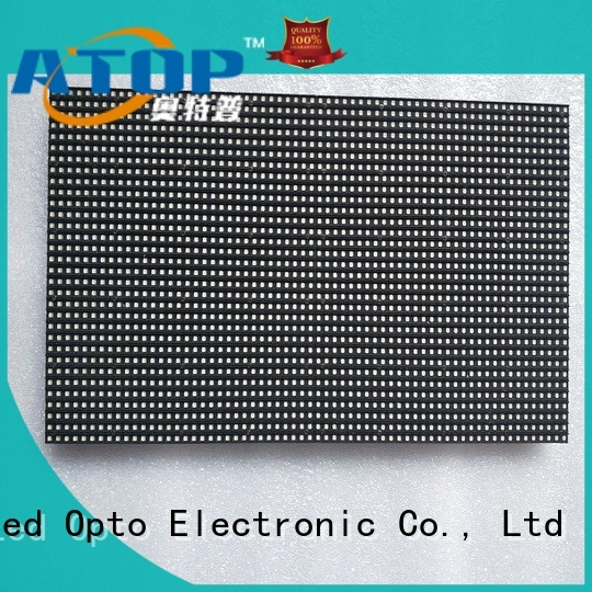 Atop size led display module easy operation in market