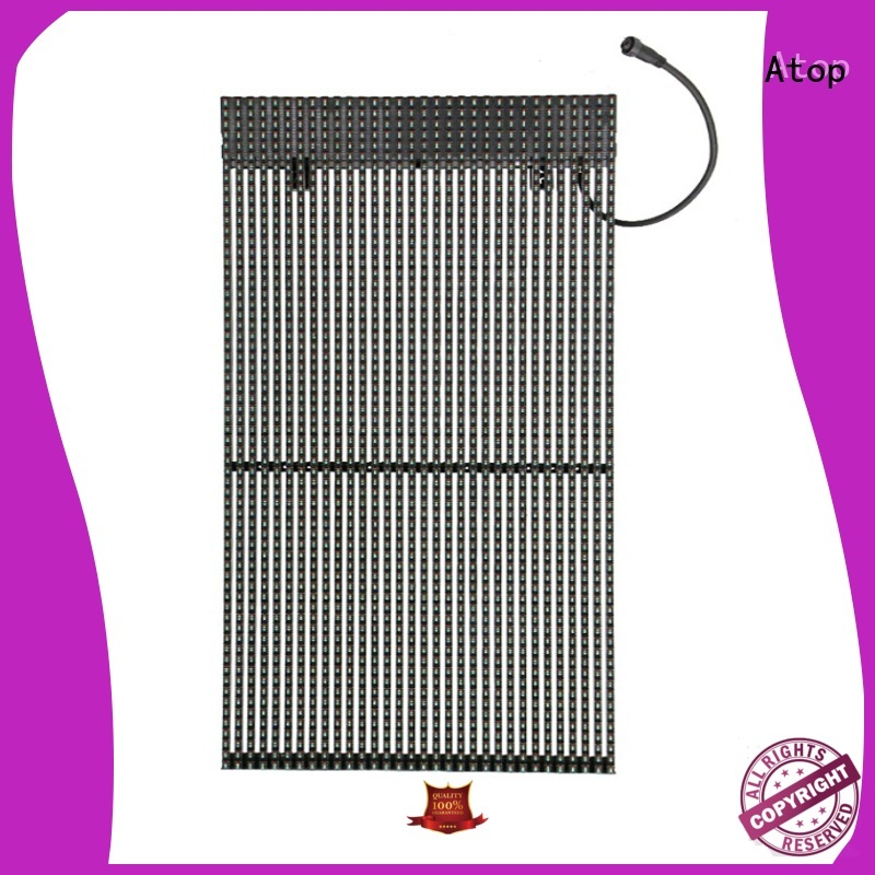 professional glass led display screen wuth low temperature for stages