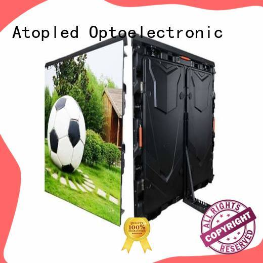 Atop simple led screen stadium with reliable quality for outdoor