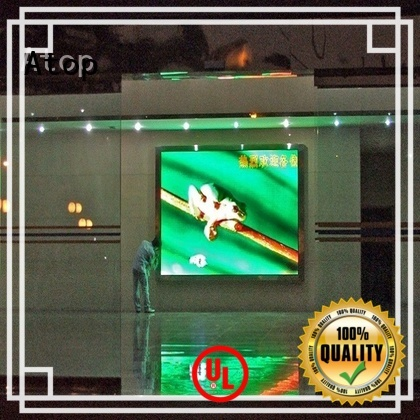 Atop hd led panel with the stringent quality standards for advertising