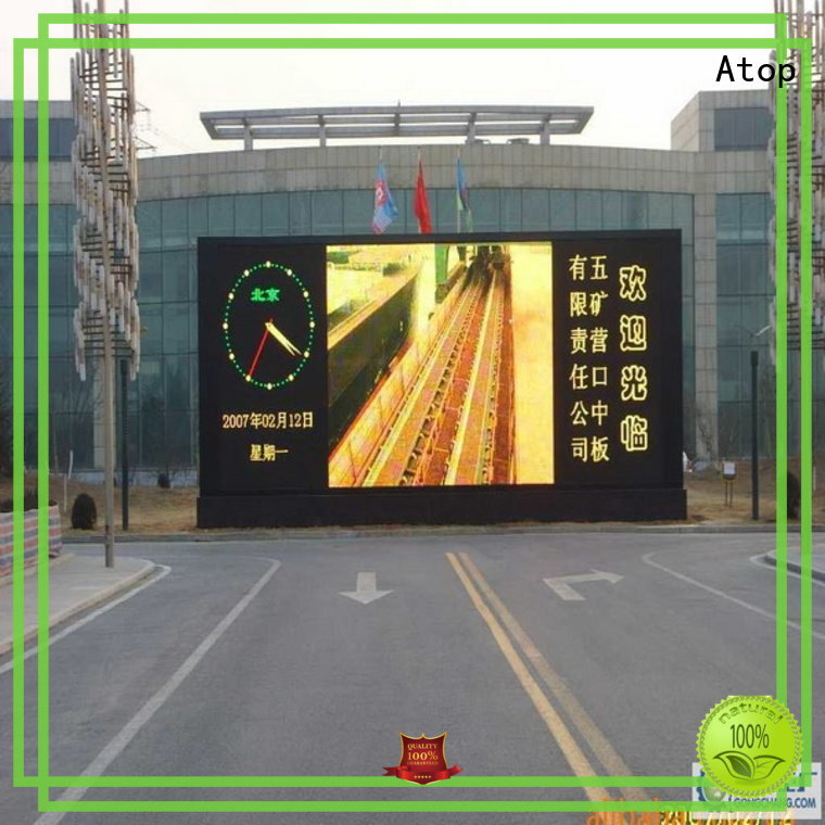 Atop outdoor outdoor led display screen price to meet different need for advertising