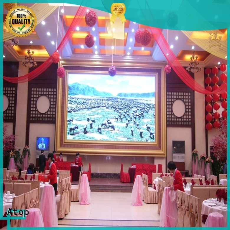 wide view angle indoor fixed led display with best color uniformity for advertising