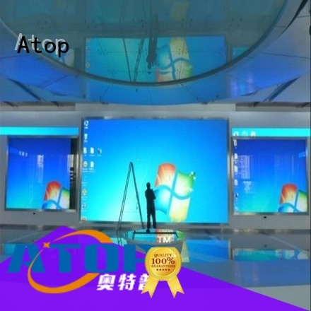 Atop customized indoor led screen wedding for advertising