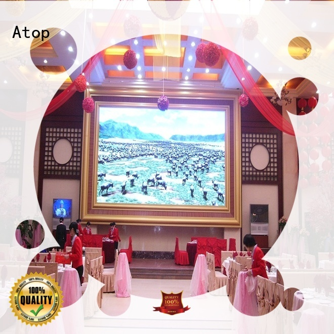 Atop favorable large led screen with best color uniformity for indoor led display