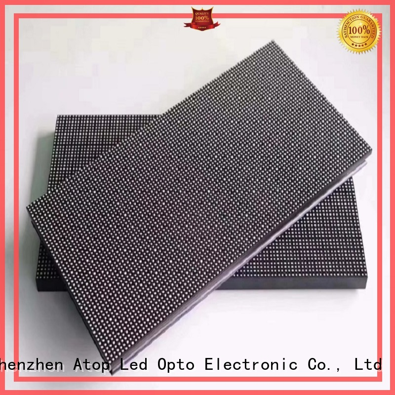 Atop panel round led module easy operation for indoor rental led display