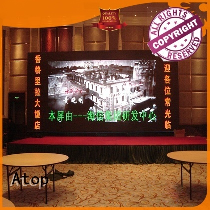 wide view angle led screen design large with reliable driving IC in market