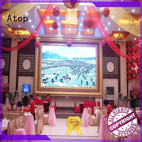 Atop good consistency large led screen with the stringent quality standards for indoor led display