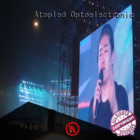 Atop aluminum outdoor led screen hire with reliable quality for company advertising