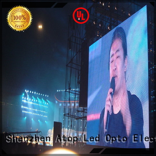 Atop outdoor rental led panel with high precision in market