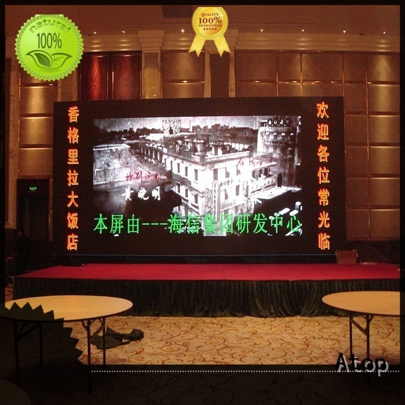 Atop wide view angle hd led panel with best color uniformity for advertising