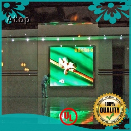 Atop installation video wall display with the stringent quality standards for indoor led display