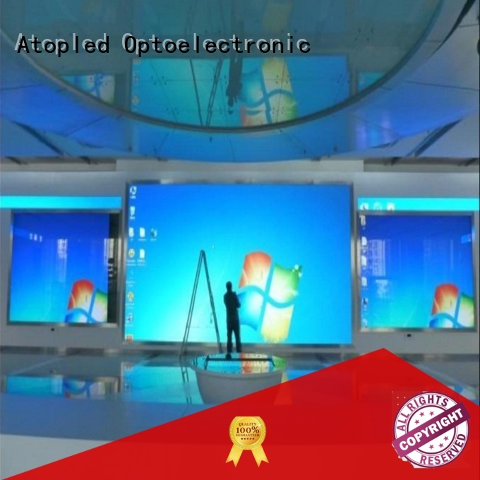 Atop wall fixed led display with best color uniformity for advertising